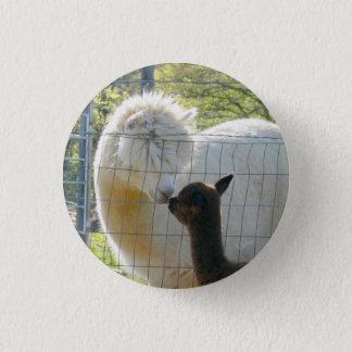 Baby-Alpaka-Kuss-Knöpfe Runder Button 3,2 Cm