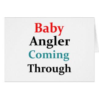 Baby-Angler, der durch kommt Grußkarte