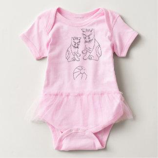 Baby-Ballettröckchen-Bodysuit mit lustigen Katzen Baby Strampler