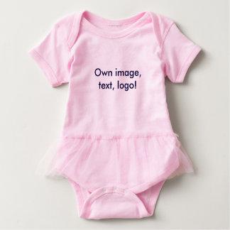 Baby-Ballettröckchen-Bodysuit-uni Rosa Baby Strampler
