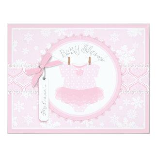 Baby-Ballettröckchen-Schneeflocke-Druck-Babyparty 10,8 X 14 Cm Einladungskarte