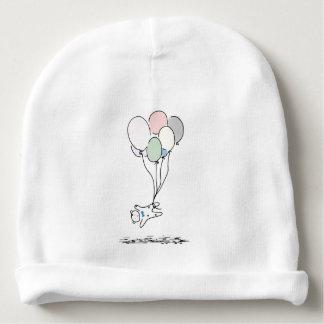Baby-Bär, der mit Heißluft-Ballonen steigt Babymütze