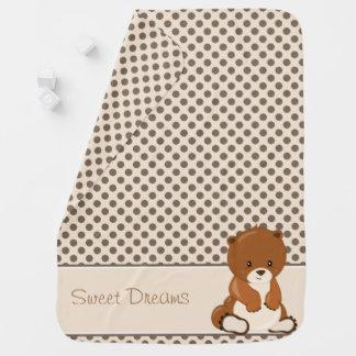 Baby-Bär der Waldtier-| | personalisiert Babydecke