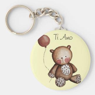 Baby-Bär mit Ballon-Schlüsselkette Standard Runder Schlüsselanhänger