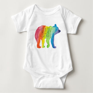 Baby-Bärn-Aquarell-Familien-Stolz-Bodysuit Baby Strampler