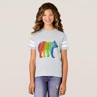 Baby-Bärn-Aquarell-Familien-Stolz-Fußball-T-Stück T-Shirt