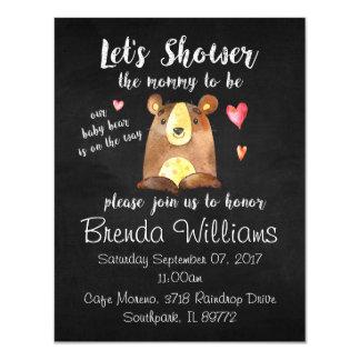 Baby-Bärn-Babyparty-Einladungen - Tafel 10,8 X 14 Cm Einladungskarte