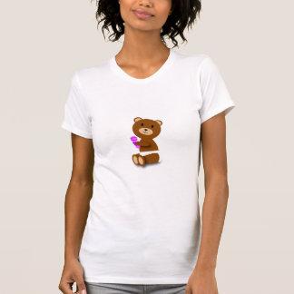 Baby-Bärn-Windel-Rosa-lila Geklapper T-Shirt