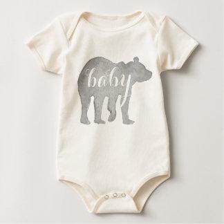 Baby-Bärwatercolor-Bio Bodysuit Baby Strampler
