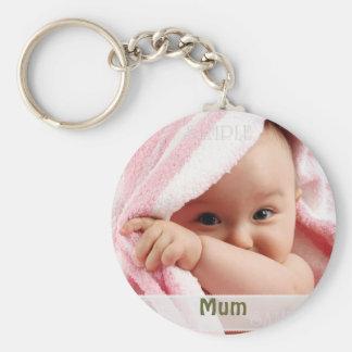 Baby-Bild für Mama, Schlüsselring-Geschenk Standard Runder Schlüsselanhänger