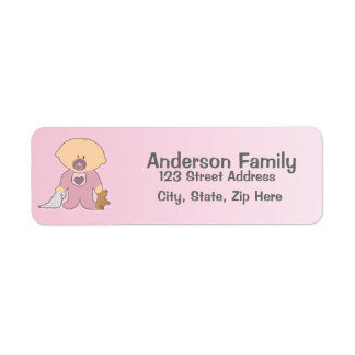 Baby Blankie rosa Adressen-Etikett