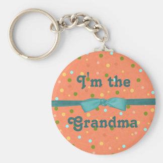 """Baby-Blasen: """"Ich bin die Großmutter """" Schlüsselanhänger"""
