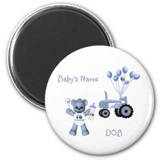 Baby-Blau-Bär und blauer Traktor-Magnet Magnete