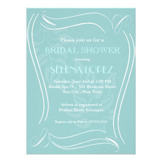 Baby-Blau-Brautpartyeinladungen Personalisierte Einladung