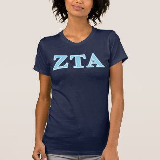 Baby-Blau-Buchstaben ZetaTau Alpha T-Shirt