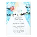 Baby-Blau-Damast-Braut-Brautparty laden ein Individuelle Einladungen