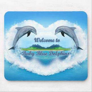 Baby-Blau-Delphin-Mausunterlage Mousepad