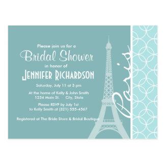 Baby-Blau-Eiffelturm; Paris Postkarten