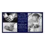 Baby-Blau-Geburts-Mitteilungs-Collage (Junge)