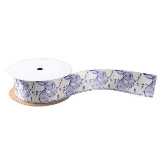 Baby-Blau-Häschen-Geschenk-Verpackung Satinband