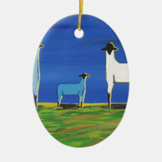 Baby-Blau Keramik Ornament
