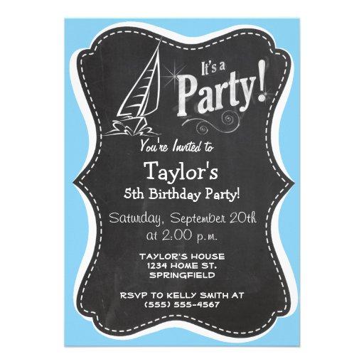Baby-Blau-Segeln Individuelle Einladungskarte