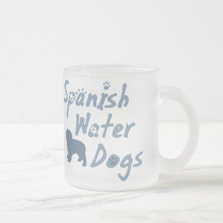 Baby-Blau-spanische Wasser-HundeTasse Mattglastasse