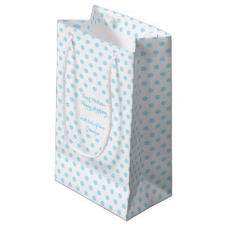 Baby-Blau-Tupfen-kundenspezifische Kleine Geschenktüte