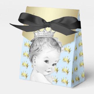 Baby-Blau und Goldprinz Babyparty Geschenkkartons