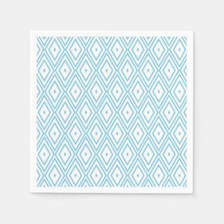 Baby-Blau-und Weiß-Diamant-Servietten Papierservietten