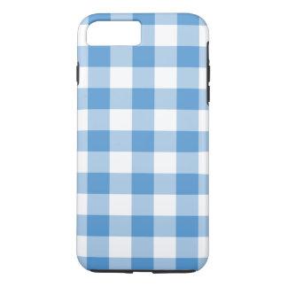 Baby-Blau-und Weiß-Gingham iPhone 8/7 Plusfall iPhone 8 Plus/7 Plus Hülle