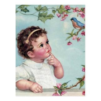 Baby-Blau-Vogel Postkarte