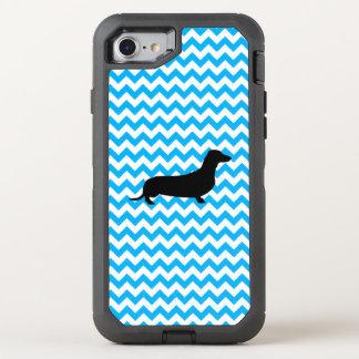 Baby-Blau Zickzack mit Dackel OtterBox Defender iPhone 8/7 Hülle