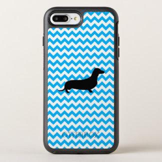 Baby-Blau Zickzack mit Dackel OtterBox Symmetry iPhone 8 Plus/7 Plus Hülle