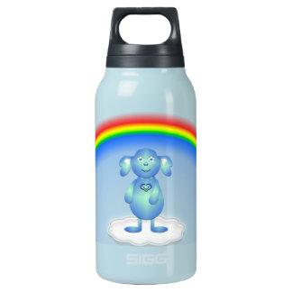 Baby-Blaues und der Regenbogen Isolierte Flasche