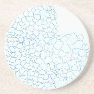 Baby-BlauHydrangea Sandstein Untersetzer