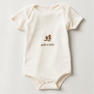 Baby-Body aus Bio-Baumwolle, Natur gold-o-holic Baby Strampler