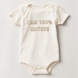 "Baby-Body aus Biobaumwolle ""I am 100% nature"" Baby Strampler"