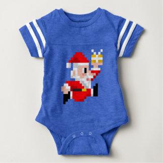 Baby-Bodysuit: 8-Bitweihnachtsmann-Weihnachten Baby Strampler