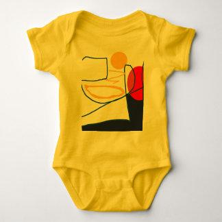 BABY-BODYSUIT-BABY KLEIDET glückliche Baby Strampler