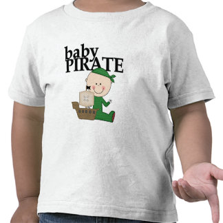 Baby Boy Pirate with Ship Tshirts and Gifts