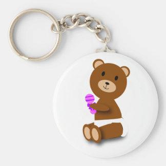 Baby-Braunbärwindel-Geklapper keychain Schlüsselanhänger