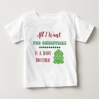 Baby-Bruder-Weihnachtsweste Baby T-shirt