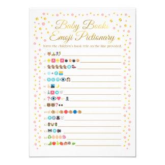 Baby bucht Emoji Pictionary Spiel-Rosa und Gold Karte