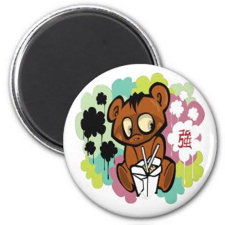 Baby-Cartoonchinese des Bären niedlicher Runder Magnet 5,7 Cm
