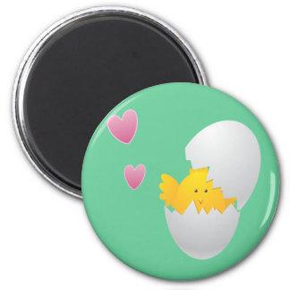 Baby Chickie Runder Magnet 5,7 Cm