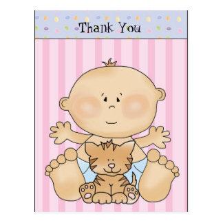 Baby danken Ihnen Cartoon-Postkarte