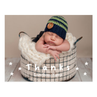 Baby danken Ihnen Foto-Postkarten Postkarte