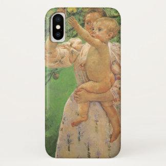 Baby, das für Apple durch Mary Cassatt erreicht iPhone X Hülle