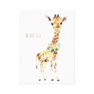 Baby, das Giraffe ist, ist SIE Ti ful! Leinwanddruck